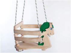 Wooden Swing Green, Green Horse Swing, Wooden Horse Swing, Swing for Indoor and Outdoor, Handmade Swing on Etsy, $69.00