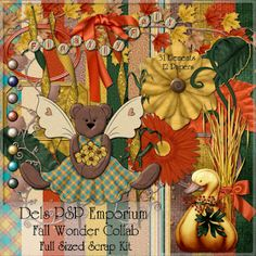 free digi scrapbook kit:  Love these colors for fall so cute!