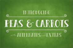 Peas & Carrots font by Brittney Murphy Design - FontSpace