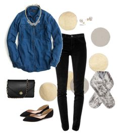 """""""OOTN 12.03.16"""" by elie2882 ❤ liked on Polyvore featuring J Brand, J.Crew, Banana Republic, Tory Burch and Jacques Vert"""