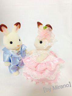 シルバニア☆手作り♪ウェディングドレス&タキシードセット♪_画像2