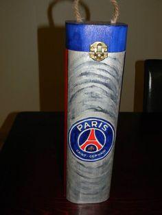 Thème PSG  reproduit et peint à la main
