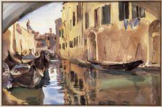 John Singer Sargent, Pequeño canal de Venecia, 1902. Acuarela, 30.5 x 45.7 cm. Colección particular