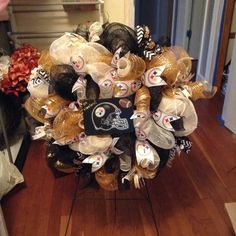 STEELERS WREATH!! www.facebook.com/kimskreationsetc to place your order.