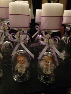 Baptism centerpieces for Jayla Christening Centerpieces, Communion Centerpieces, Baptism Decorations, Baptism Favors, Baptism Party, Baptism Ideas, Shower Centerpieces, Balloon Decorations, First Communion Party