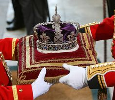The Imperial State Crown by The British Monarchy. Royal Crowns, Royal Tiaras, Royal Jewels, Tiaras And Crowns, Crown Jewels, Gold Crown, Royal Family Lineage, Imperial State Crown, Teacher Wear