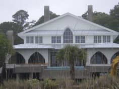 Daufuskie Island, S.C.  http://www.dau-fus-kie-island.com  Mellancamp house on the beach during the construction phase.