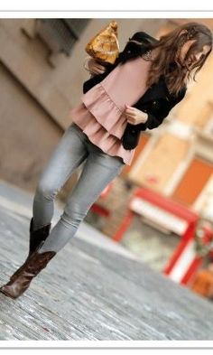 From pinterest.com #street style #boots