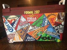 Gifts For Guys Fraternity 46 Ideas For 2019 Diy Cooler, Coolest Cooler, Beer Cooler, Sorority Canvas, Sorority Paddles, Sorority Recruitment, Guys 21st Birthday, Birthday Cakes, Formal Cooler Ideas