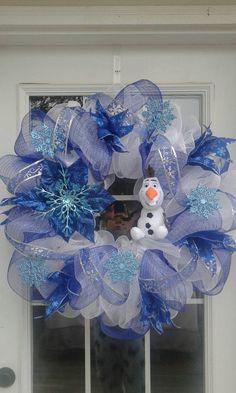 Disney Frozen Wreath Olaf Wreath  Christmas by PrettyHomeCreations