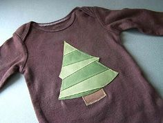 DIY Applique Onesie. Dress up your little ones this Christmas with the DIY Applique Onesie. Use ribbon to make a Christmas tree applique that adds some festive flair to a simple onesie. They'll look so cute in this simple sewing project.