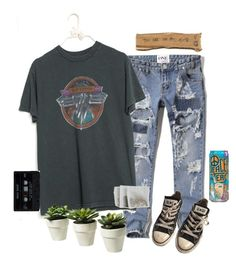 """""""ootd"""" by trishaclay ❤ liked on Polyvore featuring Abercrombie & Fitch and Converse"""
