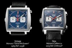 """A look at the 2015 TAG Heuer Monaco Calibre 11 """"Steve McQueen"""" ref. CAW211P (live pics and price) 