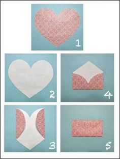 Valentine& Day craft part deux. Last time, I shared with you some crafty heart origami for letters . Then I posted a cou. Cute Crafts, Diy And Crafts, Arts And Crafts, Recycle Crafts, Reuse Recycle, Heart Envelope, Fold Envelope, Envelope Book, Gift Envelope