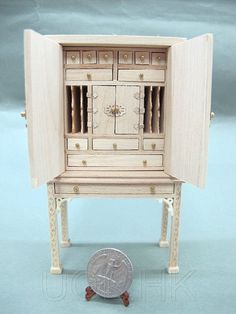 Miniature 1:12 Scale Doll House Spice Chest-Unpainted