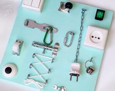 Beschäftigt Board /Бизиборд, Busyboard, stehen Montessori, Activity-Board, Sensor-Brett