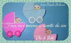 Diy: ☆ Convite chá de bebê - Passo a passo ☆ http://youtu.be/STaHxyX17LU Veja o passo a passo para fazer convite para chá de bebê com custo muito baixo e fica lindo.
