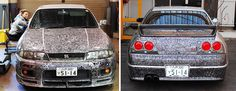 Guy Lets His Artist Wife Doodle With Sharpie Pen On His Nissan Skyline GTR | Bored Panda