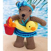 *** Made it for Michelle's granddaughter.. Beach Bear pattern, free.