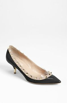 Valentino 'Rockstud' Metal Heel Pump available at Nordstrom Valentino Rockstud Pumps, Valentino Shoes, Valentino Garavani, Pumps Heels, High Heels, Shoe Game, Designer Shoes, Me Too Shoes, Zapatos