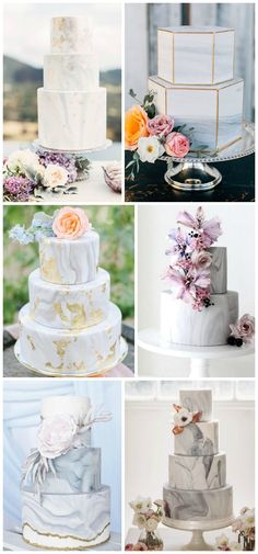 Wedding Trends : Marble Wedding Cakes