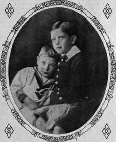 A tender portrait of Prince John (left) and Prince George, the youngest children of King George V and Queen Mary.