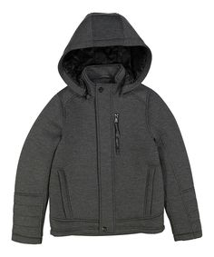 Look what I found on #zulily! Urban Republic Gray Pewter Removable Hooded Bomber Jacket - Kids & Tween by Urban Republic #zulilyfinds
