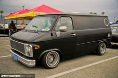 Lowered Chevy Van. #CustomVan #VanGo #ChevyVan