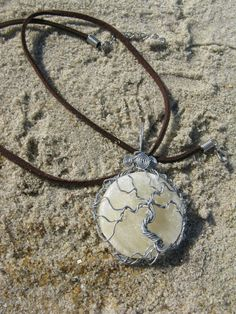 Calcite Moon Tree of Life Pendant with Personalized Back