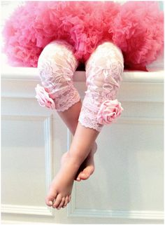 BohoMamma Feature: Girls Pink Tights with Rosette. Available at Fancy Face Couture