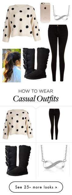 """Casual Day"" by ashrushzoo on Polyvore featuring Current/Elliott, UGG Australia, Incase, women's clothing, women's fashion, women, female, woman, misses and juniors"