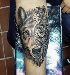 130+ Best Wolf Tattoos for Men (2021) - Howling, Lone, Tribal Designs Animal Tattoos For Men, Wolf Tattoos Men, Tribal Wolf Tattoo, Tattoos For Guys, Tribal Designs, Wolves, Animals, Tribal Drawings, Animales