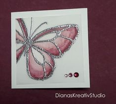 Karte Wunderbarer Tag Schmetterling Stampin Blends Stained Glass Technique Stampin Up