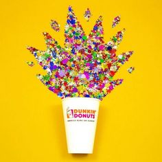 Spring has sprung (out of a Dunkin' cup!)