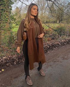 Brown Outfit, My Outfit, Outfit Ideas, Trendy Fashion, Winter Fashion, Trendy Style, Winter Fits, Light Jacket, Business Outfits