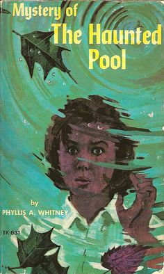 'Mystery of the Haunted Pool' I read her young adult books because my aunt was such a fan of her adult mysteries. I remember one book about a girl who visits a relative and befriends the blind girl who lives next door, and they solve a mystery. Cool Books, Ya Books, Halloween Books, Halloween Eve, Retro Halloween, Blind Girl, Award Winning Books, Award Winner, Books For Teens