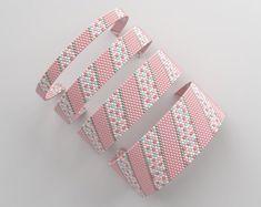 Peyote bracelet pattern peyote pattern even count stitch Loom Bracelet Patterns, Peyote Patterns, Loom Patterns, Beading Patterns, Stitch Patterns, Peyote Beading, Beaded Bracelets, Beaded Jewelry, Bracelet Patterns