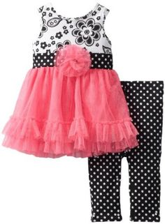 Needs a jacket or sleeves but so cute! :o)   Youngland Baby-Girls Newborn Legging 2 Piece Set