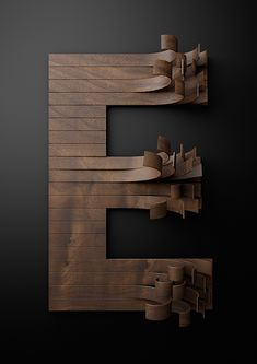 typography with wooden slats by txaber for nike.