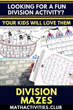Division Activity – Division Maze Bundle – 10 Pack! This fun packed bundle includes ten division mazes with answers. Students will love these fun worksheets as they have to use their division knowledge to find the way through mazes. An awesome learning a