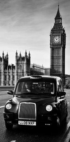 A 'Black Cab' and 'The Houses Of Parliament'....