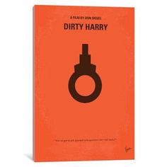 Mercury Row Dirty Harry Movie Poster Vintage Advertisement on Wrapped Canvas Size: