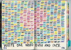 art, wreck this journal