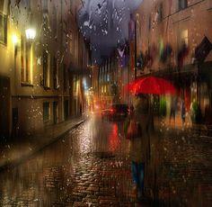 Photographer\'s photo Гордеев Эдуард - дождь в старом городе...