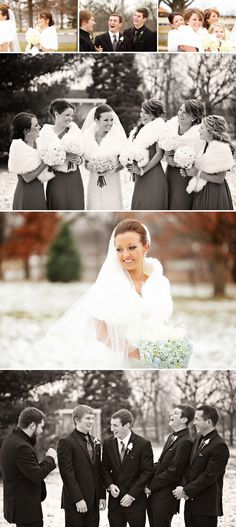 Beautiful winter wedding photographed by Mandy Blair Photography