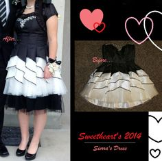 My friend's Sweetheart dress. Modest Alteration by Haley DuCharme