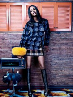Elle Canada Editorial September 2014 - Grace Mahary by Leda & St Jacques