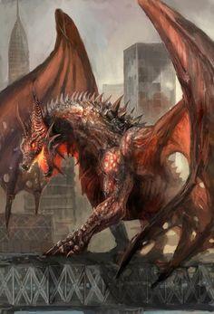 Dragões e mais dragões nas ilustrações de fantasia de Vuk Kostic a.k.a. chevsy