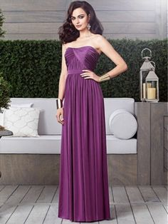 Full length strapless maracaine jersey dress w/ draped detail at front and back bodice and shirred skirt.   available in any size and custom size