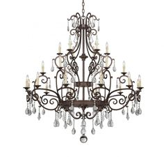 Savoy House 1-1407-24-56 - Florence 24 Light Chandelier, New Tortoise Shell